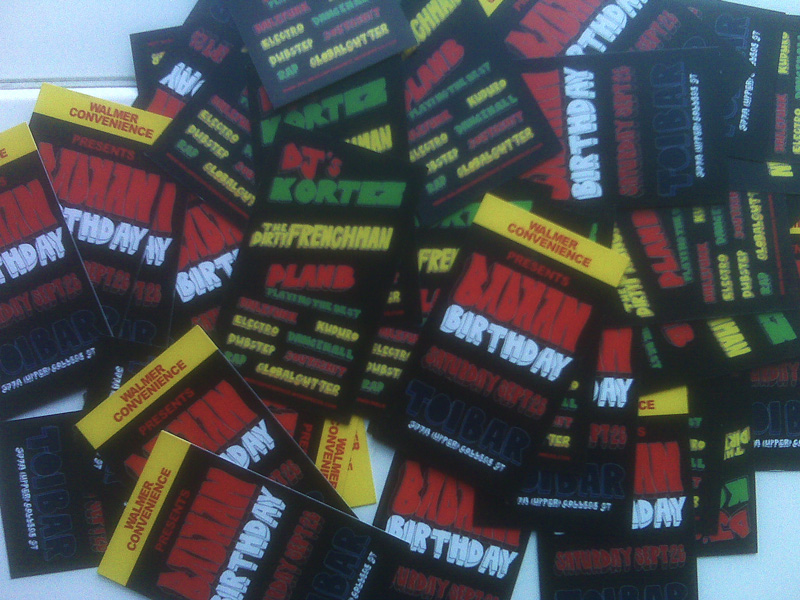 BADMAN BIRTHDAY FLYERS