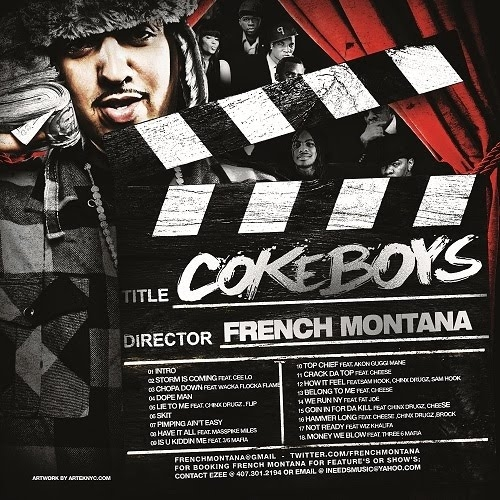 """French montana """"coke boys 4"""" cover art, tracklist, download."""
